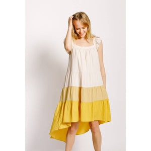 Flutter Sleeve Hi Low Dress