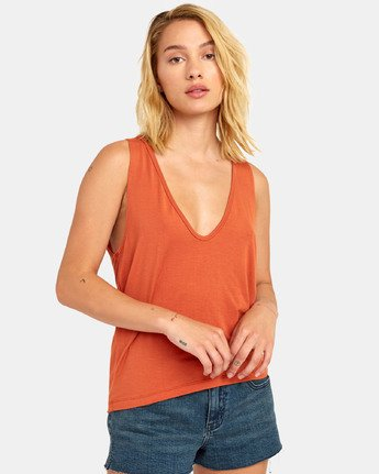Minted Tank Top - Hot Coral
