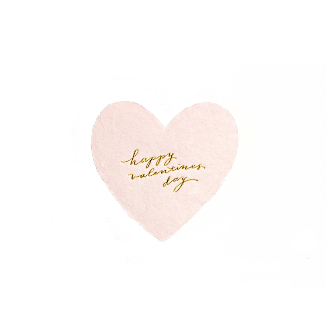 Happy Valentine's Day Petite Foiled Heart