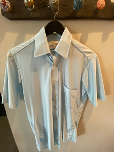 Vintage SS Nylon Button Up - Mens S