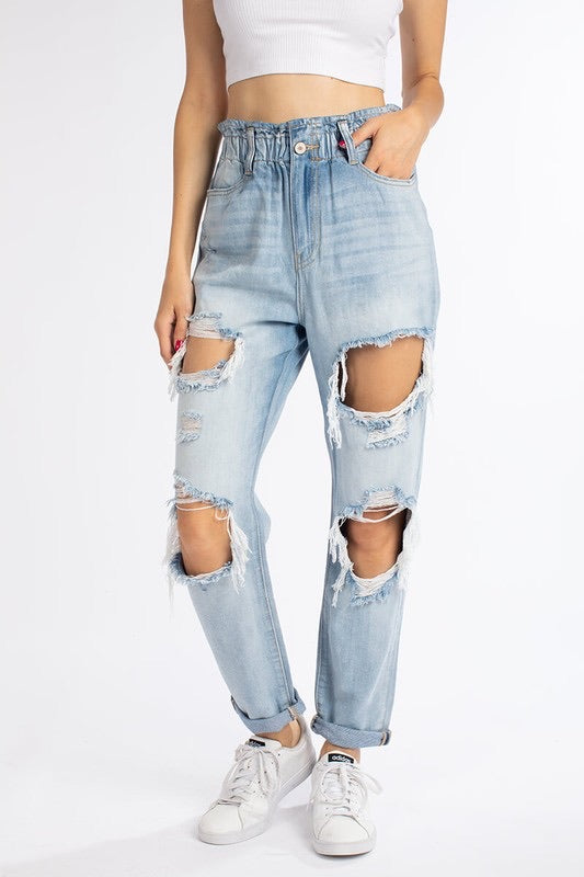 High Waisted Scrunch Denim