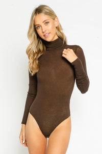 Brown Turtleneck Bodysuit