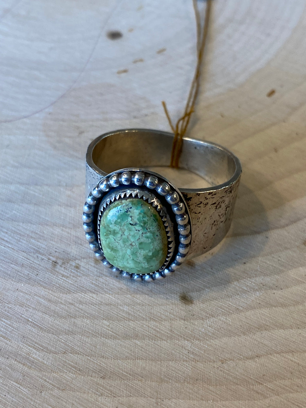 Green Turquoise Ring Size: 13