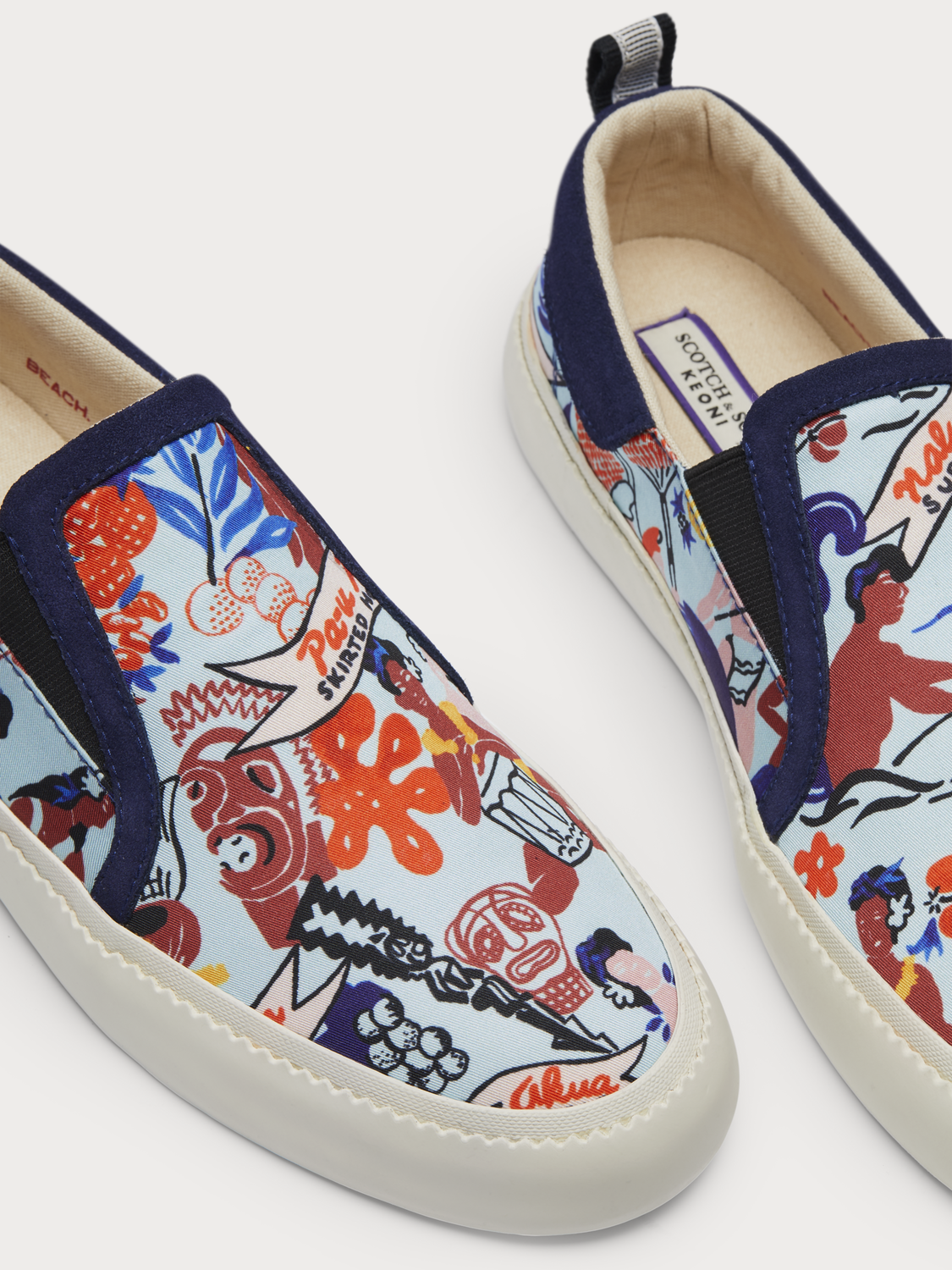 Menton Printed Slip-On - Keoni Collection