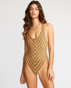 Retro Row One Piece