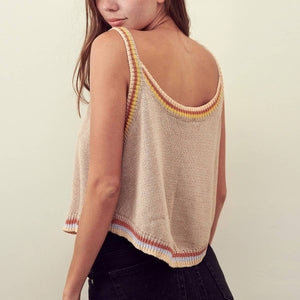 Ribbed Sleeveless Knit Crop Top