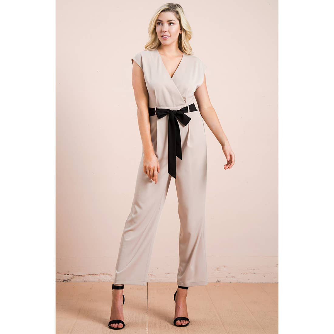 Solid Jumpsuit - Tan