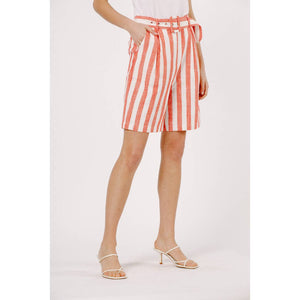 Striped Mid-Length Shorts