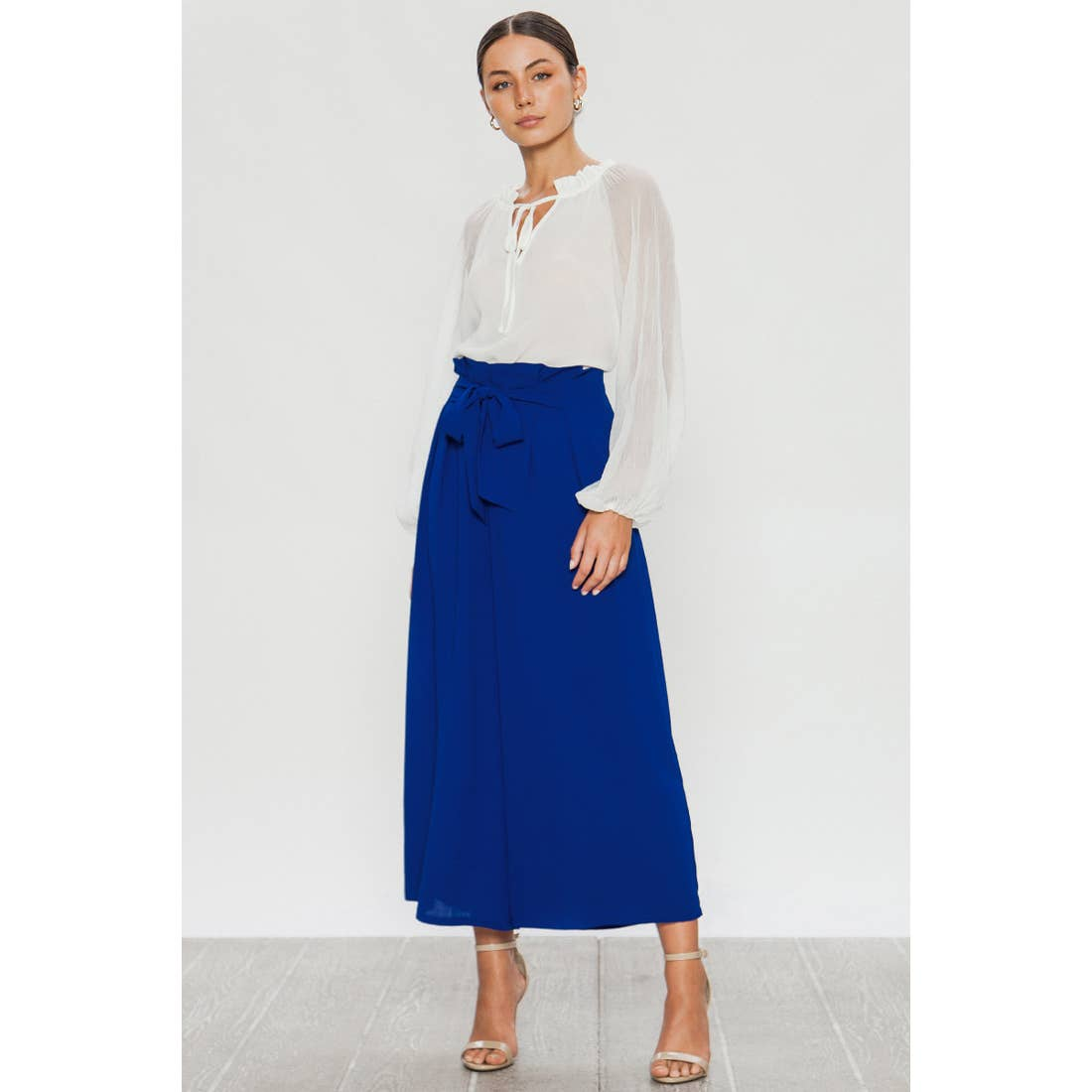 Wide Leg Pants - Blue