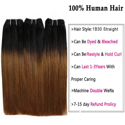 Straight Dyed Human Hair Bundles