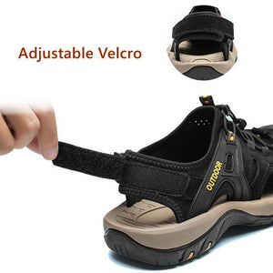 Men's Adjustable Non-slip Outdoor Lightweight Sports Hiking Water Sandals - Peril