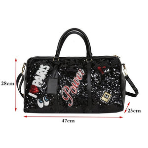 Weekend Duffle Bag Sequin Design - Peril