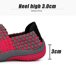 Women Woven Multi-Color Flat Sneakers Sandals - Peril