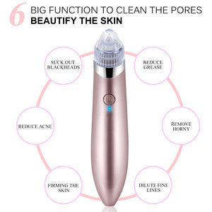 Face Clean Blackhead Removal Vacuum -Wrinkle Acne Pore Peeling Facial Skin Care Machine - Peril