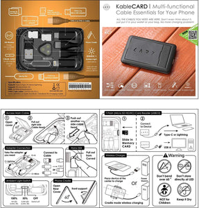 6 in 1 - Multi-Function Urban Survival Card - Peril