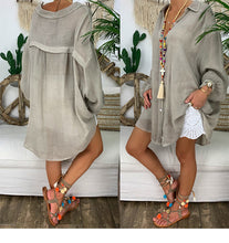 Load image into Gallery viewer, Loose Casual Linen Blouse Shirts - Peril