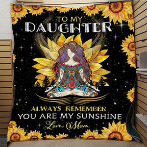 To My Daughter Printed For Bed Blanket - Peril