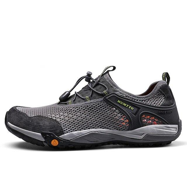 Men Hiking Shoes Breathable Mesh Non-slip Sports Sneakers - Peril