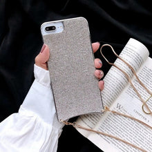 Load image into Gallery viewer, Luxury Diamond Case + Metal Necklace Cross Body Strap For iPhone - Peril