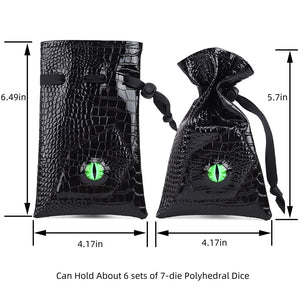 Dragon Eye Dice Drawstring Bag - Peril