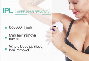 600000 Flashes IPL Laser Gear Permanent Photon Rejuvenation Electric Painless Hair Remover Epilator - Peril