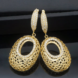 Gold Silver Plated Fashion Earrings - Peril