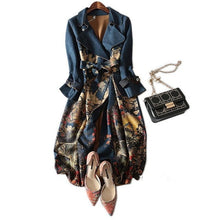 Load image into Gallery viewer, Suede Trench Coat  Cardigan For Women - Peril