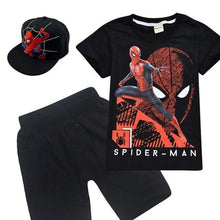 Load image into Gallery viewer, 3pcs Boys Spider Man T Shirt+Short Pant+Hat - Peril