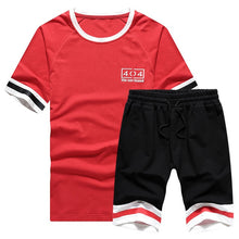 Load image into Gallery viewer, Men 2Pcs Set T-Shirt + Shorts - Peril