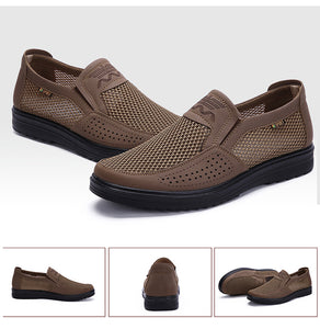 Men Casual Mesh Soft Slip On Hollow Out Shoes - Peril