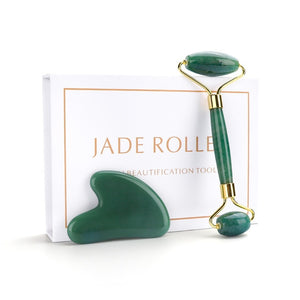 Skin Beauty Care- Jade Roller Bundle - Face Lift Massager - Peril