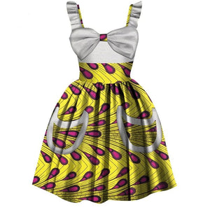 Girls Summer Cotton Dress- African Clothing Style - Peril