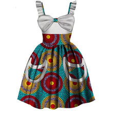 Load image into Gallery viewer, Girls Summer Cotton Dress- African Clothing Style - Peril