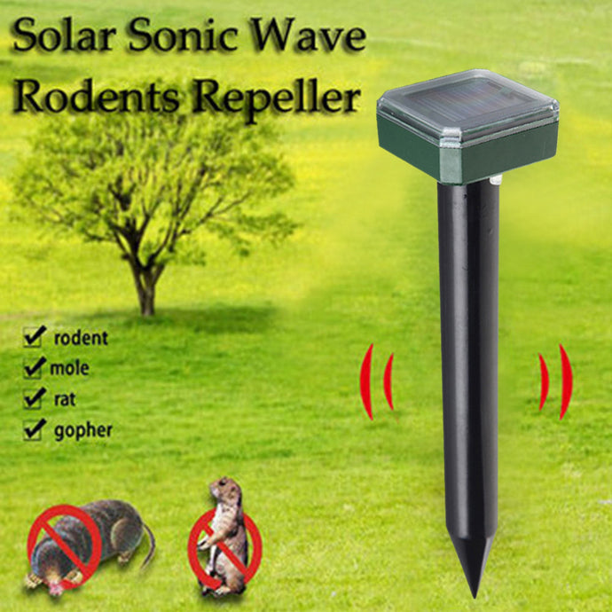 Solar Power Ultrasonic Sonic Mouse Mole Snakes Pest Rodent Repeller - Peril