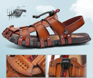 Men Genuine Leather Sandals - Peril