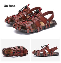 Load image into Gallery viewer, Men Genuine Leather Sandals - Peril