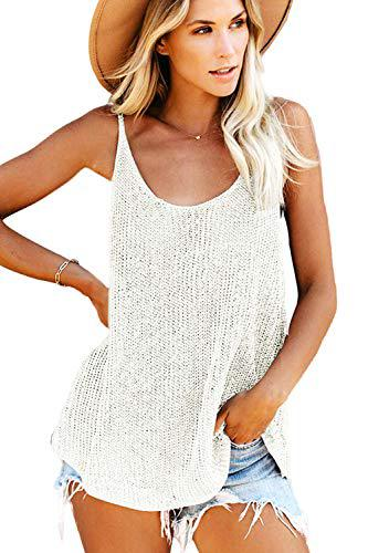 Fashion Crochet Loose Knitted Cami Tank Tops  swimsuit cover up-peril.store