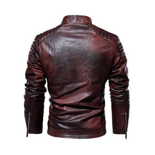 Load image into Gallery viewer, Mens Biker Windbreaker Leather Jackets - Peril