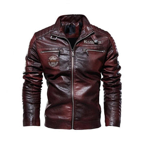 Mens Leather Jackets New Casual Jacket Biker Leather Coats
