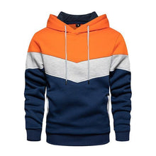 Load image into Gallery viewer, Men Hoodies Sweatshirts Patchwork Color Block Hoodies Cozy Pullover