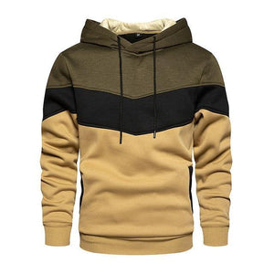 Color Block Hoodies Cozy Sweatshirt - Peril