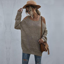 Load image into Gallery viewer, Casual Loose Side Split Off Shoulder Sweaters