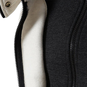 Scarf Collar Hooded Jacket - Peril