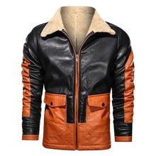 Load image into Gallery viewer, Men's Faux Leather Motorcycle Jacket - Peril