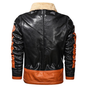 Men's Faux Leather Motorcycle Jacket - Peril
