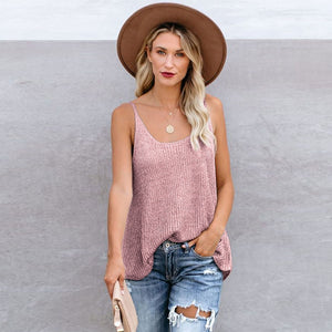 Fashion Crochet Loose Knitted Cami Tank Tops
