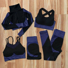 Load image into Gallery viewer, 5Pcs Women Seamless Yoga Sets Fitness Sports Suits GYM Clothes