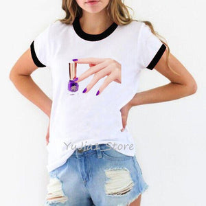 Printed Top Graphic Tee for Women