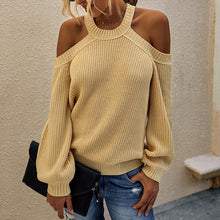 Load image into Gallery viewer, Women Solid Color  Off Shoulder Loose Pullover