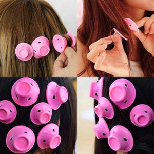 10 pcs Silicone Magic Hair Curler Tool - Peril